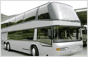Luxury buses for airport transfers